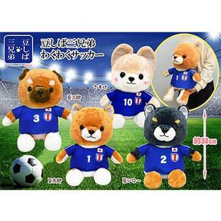 Mameshiba cosplay soccerplayer chó bông cầu thủ Amuse.