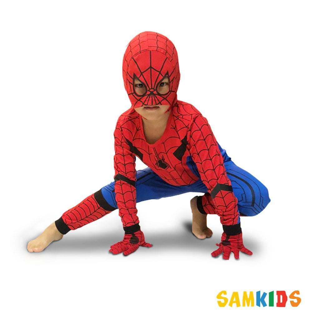 Quần áo người nhện [FREE SHIP] Spiderman dài tay kèm tặng bao tay và mặt nạ