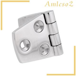 [AMLESO2] Solid 316 Stainless Steel Marine Boat Door Cabin Stamp Strap Hinge 76 x 38mm