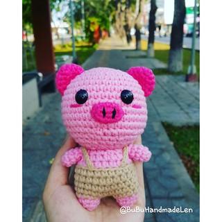 Móc Khóa Heo Kute Len – Thú Len Handmade