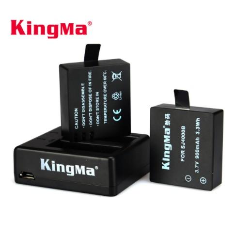 Sạc Rời Và Pin Cho SJcam SJ4000/SJ5000/SJ6000 Hiệu Kingma