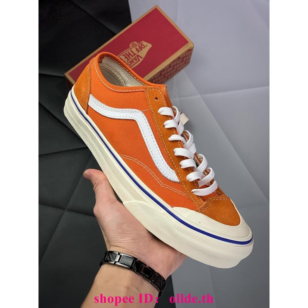 Vans Style 36 Cecon SF 19รองเท้าผู้ชายส้มและรองเท้าผู้หญิงรองเท้าลำลอง