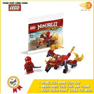 BỘ ĐỒ CHƠI LẮP RÁP RỒNG LỬA MINI CỦA KAI LEGO NINJAGO