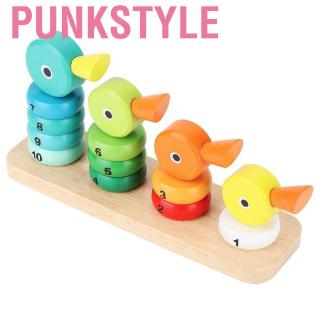 Punkstyle Kid Cute Duck Stacking Ring Tower Early Educational Mathematical Cognition Wooden Toy