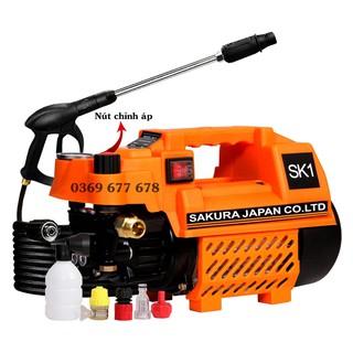 Máy Rửa Xe Chỉnh Áp SAKURA. Japan SK1. Công Suất 2400W. Có chỉnh áp . Máy xịt rửa xe lõi đồng 100%.