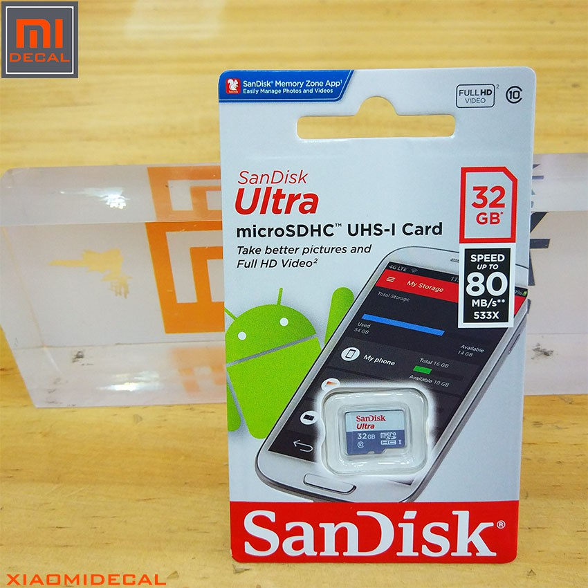 Thẻ nhớ 32Gb Micro SDHC Ultra 533X Class 10 80MB/s SanDisk - Phiên bản 2018 - 3432116 , 1055807201 , 322_1055807201 , 199000 , The-nho-32Gb-Micro-SDHC-Ultra-533X-Class-10-80MB-s-SanDisk-Phien-ban-2018-322_1055807201 , shopee.vn , Thẻ nhớ 32Gb Micro SDHC Ultra 533X Class 10 80MB/s SanDisk - Phiên bản 2018
