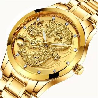 Đồng Hồ Nam Mặt Rồng Vàng Cao Cấp - hàng chính hãng