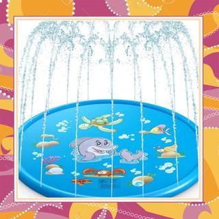 (Hàng Đẹp) Tấm đệm phun nước cho bé 1.7m–Đồ Chơi Nhà Tắm Cho Bé 9383 (Bao Đẹp)