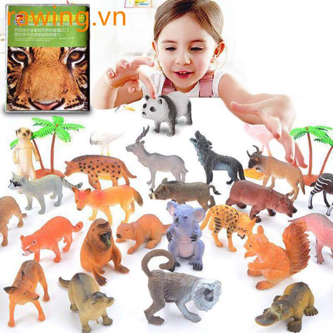 14 PCS/28 PCS Animal Model Simulate Wild Animal for Kids Early Education