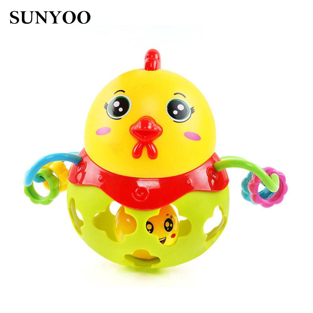 Chicken for kids Plastic Shaking Bell Ball Random Color Non-toxic Fantastic