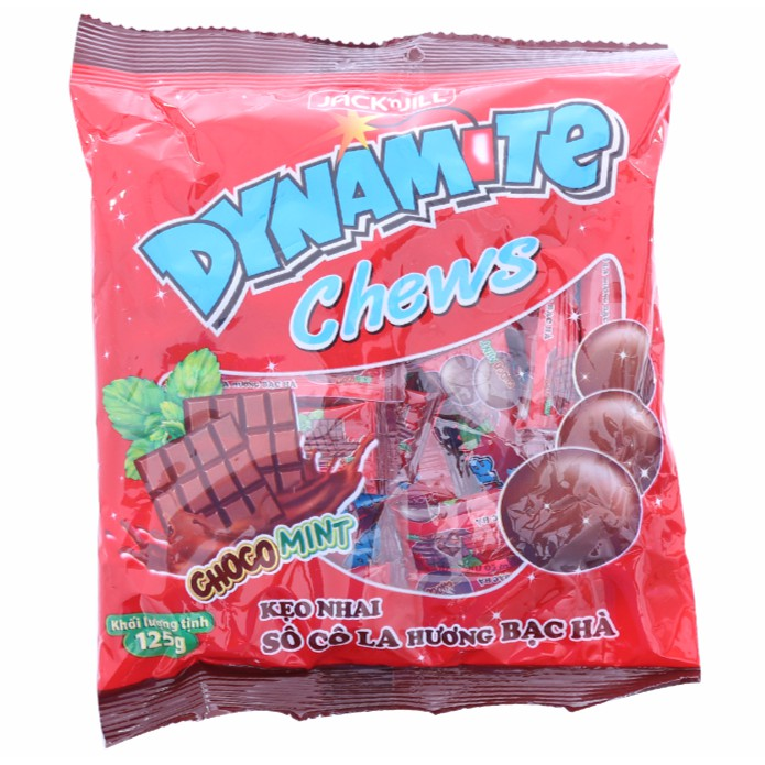 Kẹo Dynamite Chew vị socola, bạc hà/ trái cây 125g - 10014638 , 408629480 , 322_408629480 , 14000 , Keo-Dynamite-Chew-vi-socola-bac-ha-trai-cay-125g-322_408629480 , shopee.vn , Kẹo Dynamite Chew vị socola, bạc hà/ trái cây 125g