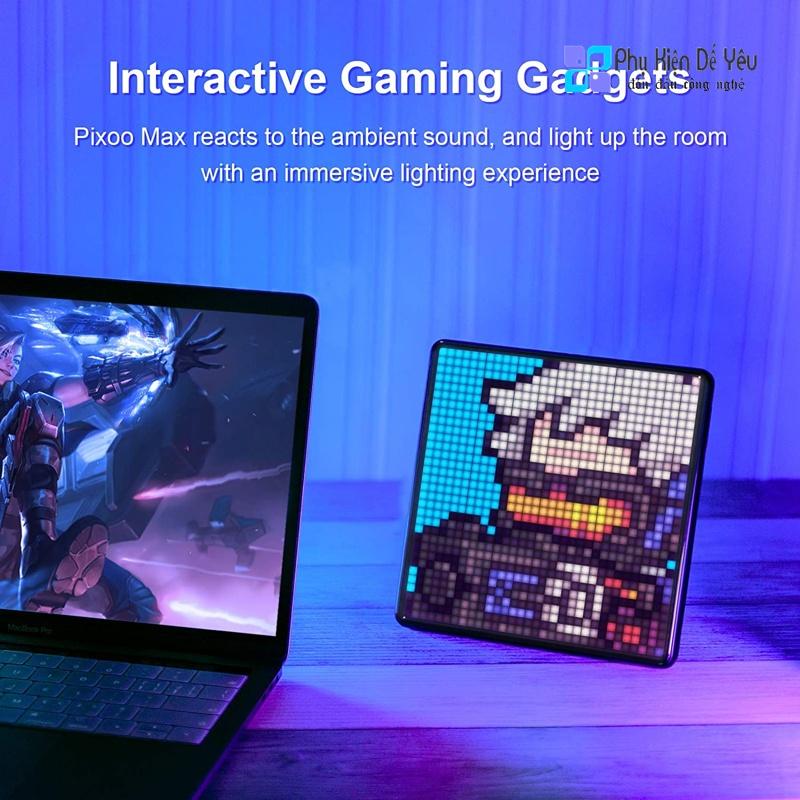 [Mã 159ELSALE hoàn 7% đơn 300K] Màn hình Pixel Art LED Divoom Pixoo Max [CHÍNH HÃNG PHÂN PHỐI VN, BẢO...