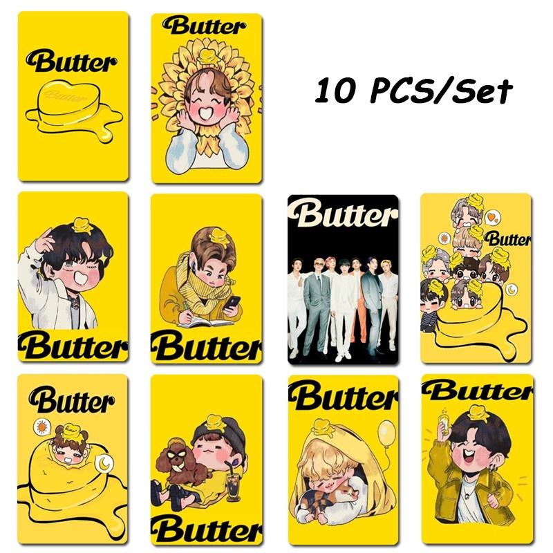 Set 10 Thẻ Dán Trang Trí Hình Nhóm Nhạc Bts