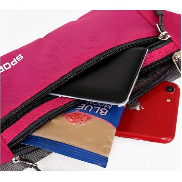 Túi đeo bụng túi đeo hông vải oxford chống nước chứa điện thoại dùng đi chơi - Tuxa store