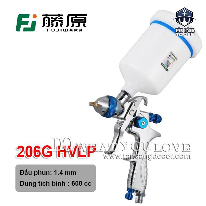 Súng Phun Sơn Fujiwara 206G - HVLP 600 cc