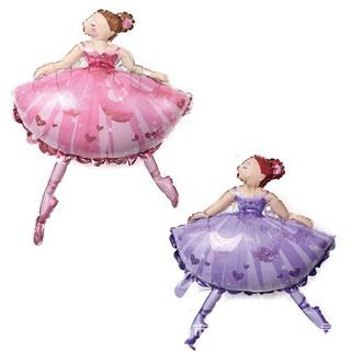 Ballet Princess Dancing Girl Balloons Birthday Baby Shower Wedding Party Decor