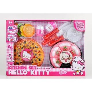 Đồ chơi cắt bánh pizza Hello kitty