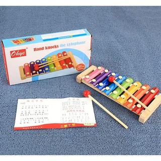 Đồ chơi Đàn Xylophone 8 thanh cho bé luyện tập khả năng âm nhạc thiên bẩm