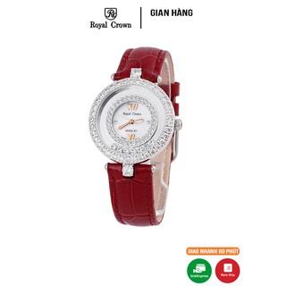 Đồng hồ nữ chính hãng Royal Crown 3628 dây da đỏ thumbnail