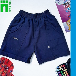 Quần đồng phục học sinh nam TỪ 15KG ĐẾN GẦN 90KG – Quần short đồng phục màu XANH ĐEN – NH Kids Shop