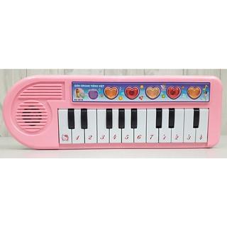 Đồ chơi giáo dục – Đàn Organ hồng có nhạc và đèn cho bé