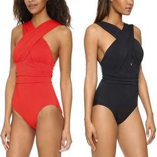 Đồ bơi một mảnh dây đan chéo ở ngực thời trang quyến rũ cho nữ thumbnail
