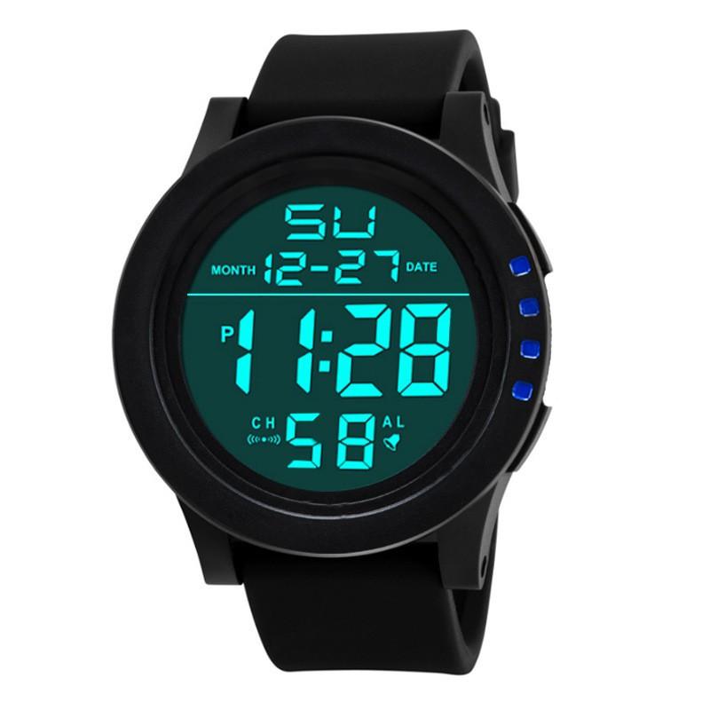 đồng hồ quartz điện tử hiển thị led chống thấm nước