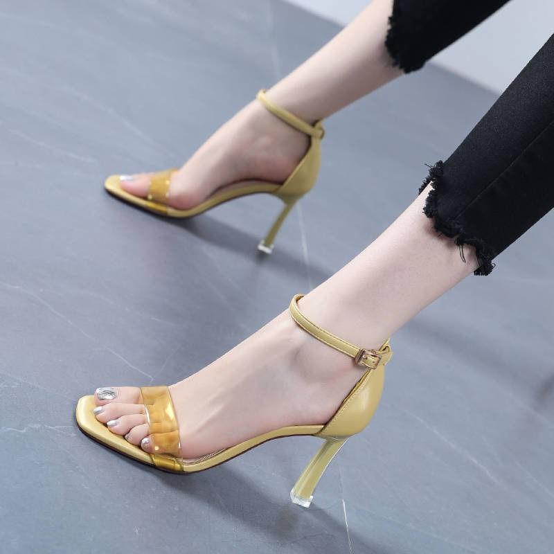 Giày Sandal Cao Gót Hở Ngón Kiểu Dáng Trẻ Trung Thanh Lịch Dành Cho Nữ