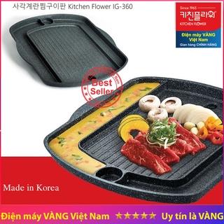 Chảo nướng trứng hấp Kitchen Flower Hàn Quốc IG-360 dùng được bếp từ