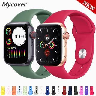 Dây silicon thay thế cho đồng hồ thông minh đeo tay iWatch 38mm 42mm 44mm 40mm Series 6 SE 5 4 3 2 1