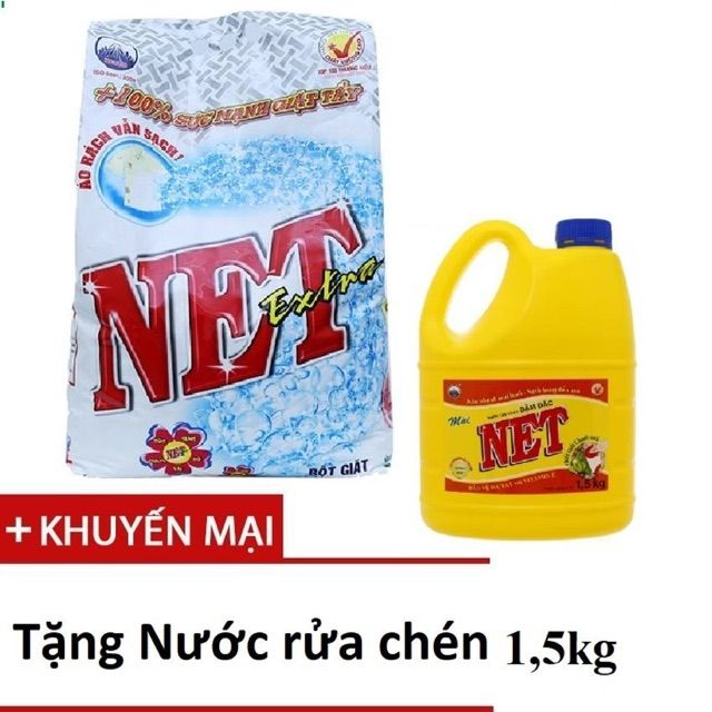 Bột giặt Net 6kg+ tặng NRC Net 1.5kg