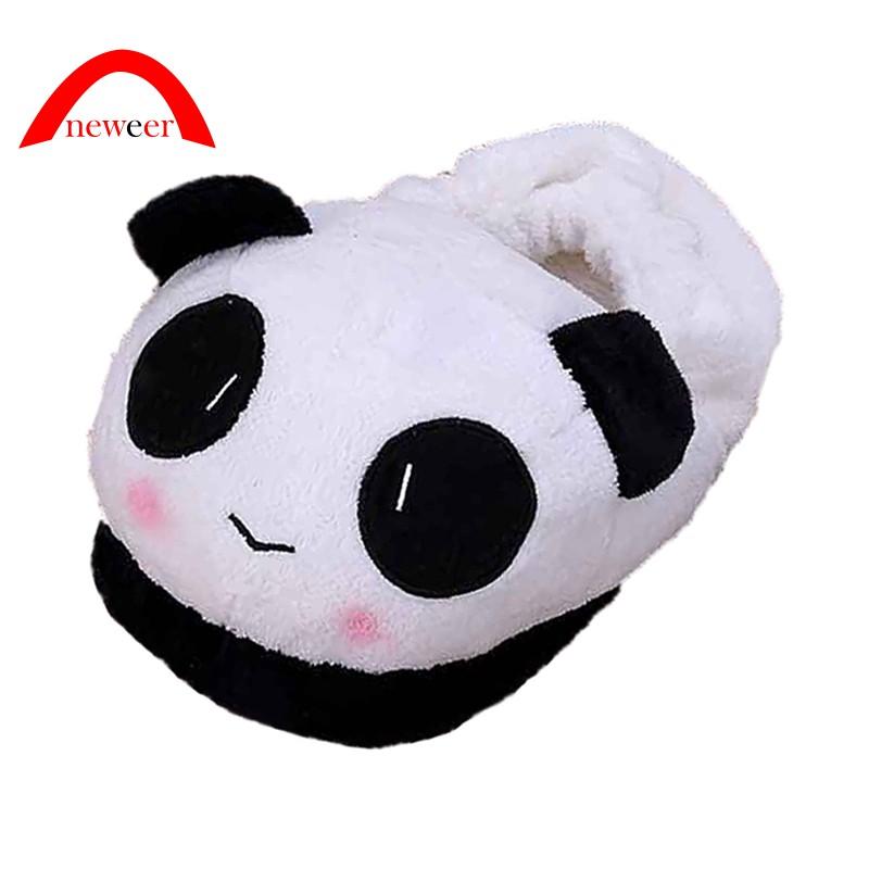 Dép lê đi trong nhà lót lông giữ ấm mùa đông hình gấu panda xinh xắn đáng yêu