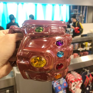 Shanghai Disney Avengers 4 ceramic cups, tyrants, infinite gloves, mugs, water glasses, Marvel cups