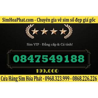 Bán Sim Số Đẹp Vinaphone 0847549188 Giá 199.000