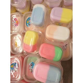 đồ chơi slime hộp slime phối 2 màu đẹp mã PPV82 Cđậu nành