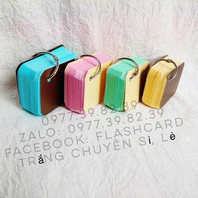 Flashcard 100 thẻ màu thái mix 5 màu 5x8cm