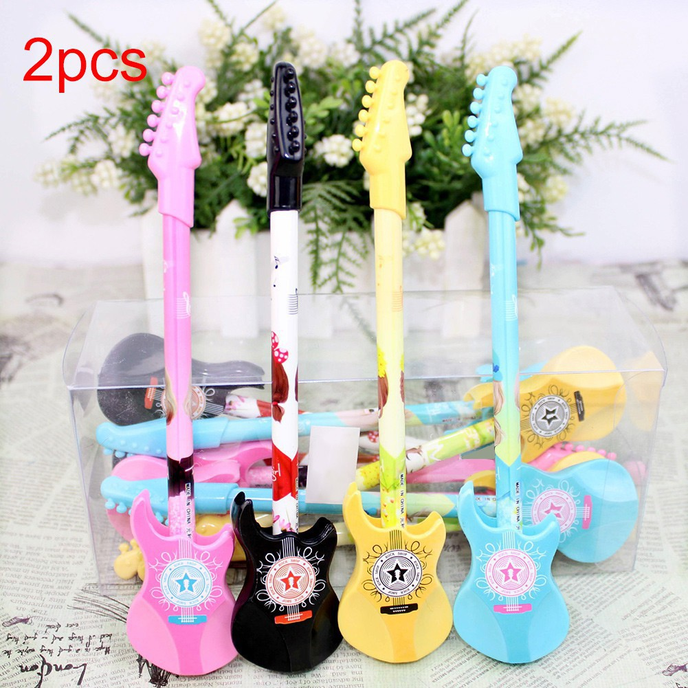 NEW2Pcs Music Styling Stationery Musical Instrument Pen School Office Stationery