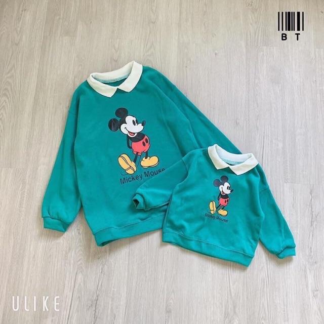 Áo nỉ đôi Mickeyy cho mẹ và bé trai bé gái 💥💥💥