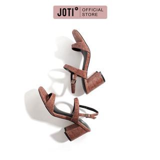 JOTI Giày Sandal Cao Gót Nữ Piere 3251VN7 2021 - Mũi Vuông Thời Trang Đế Trụ 7cm - Mang Công Sở Đi Làm Dự Tiệc