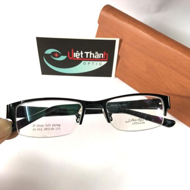 [sale giá gốc] gọng kính nửa vành - kim loại chắc chắn ( tặng hộp )
