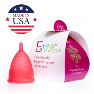 Cốc nguyệt san Eva cup của Mỹ chính hãng (Tặng thêm cốc tiệt trùng, gel rửa và 10 viên tiệt trùng)