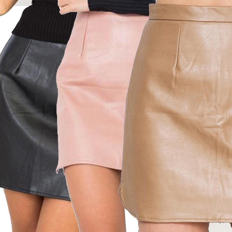 Chân váy da PU thiết kế ôm sát quyến rũ