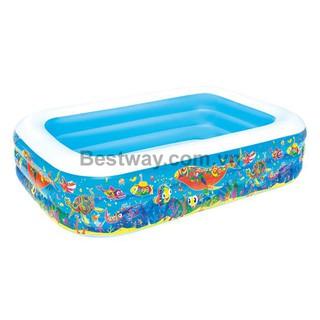 Bể bơi phao chữ nhật hình cá đại dương Bestway 54120