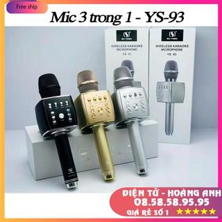 Mic Hát Karaoke Bluetooth YS93 Dùng Hát Tại Nhà Hoặc Livetream (YS92-YS90-YS91-YS95-SD08-SD10-SD17-SD18-L698)