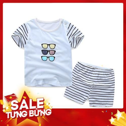 Bộ quần áo cotton xuất Hàn cho bé