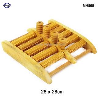 Bàn lăn chân 4 trục bi đứng massage gỗ cỡ lớn - giúp lưu thông máu - MH865 FREESHIP đơn 50k Chopstick of HAHANCO thumbnail