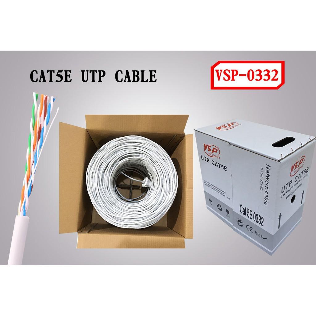 Dây cáp mạng VSP CAT 5E 0332 305m dây trắng | Shopee Việt Nam