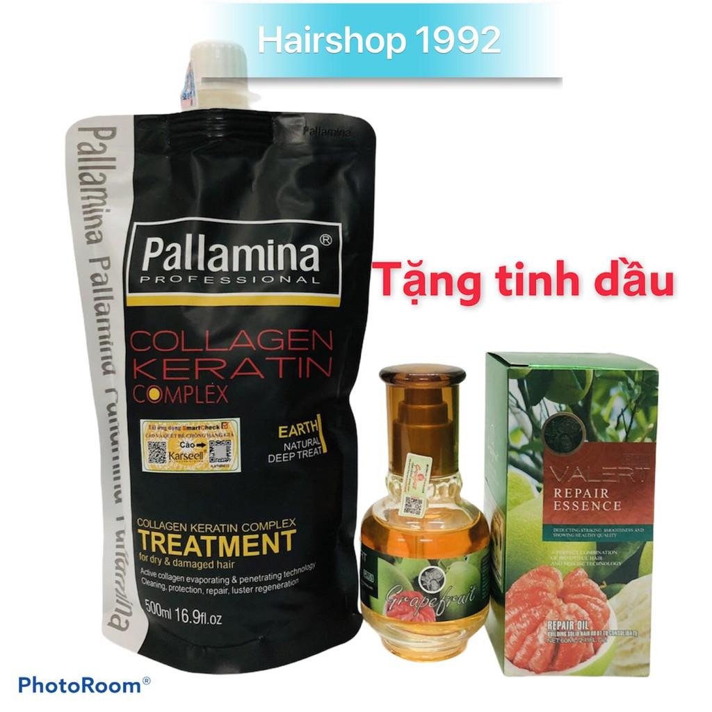 Kem Hấp Ủ Tóc Dưỡng Sinh Phục Hồi Colagen -Keratin Pallamina 500ml