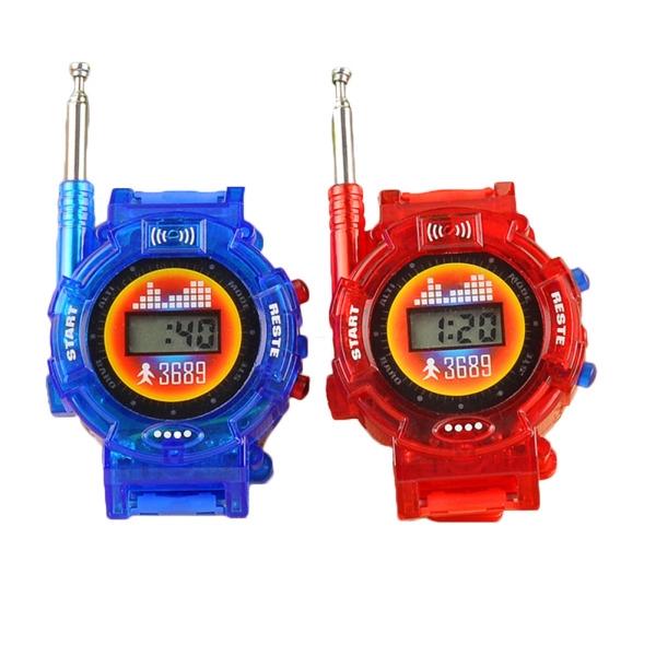 1 Pairs Children Toy Walkie Talkie Child Wrist Watches Real Time Display Interphone