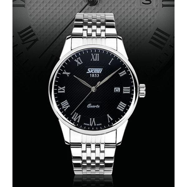 Đồng hồ nam Skmei mặt đen cực chất